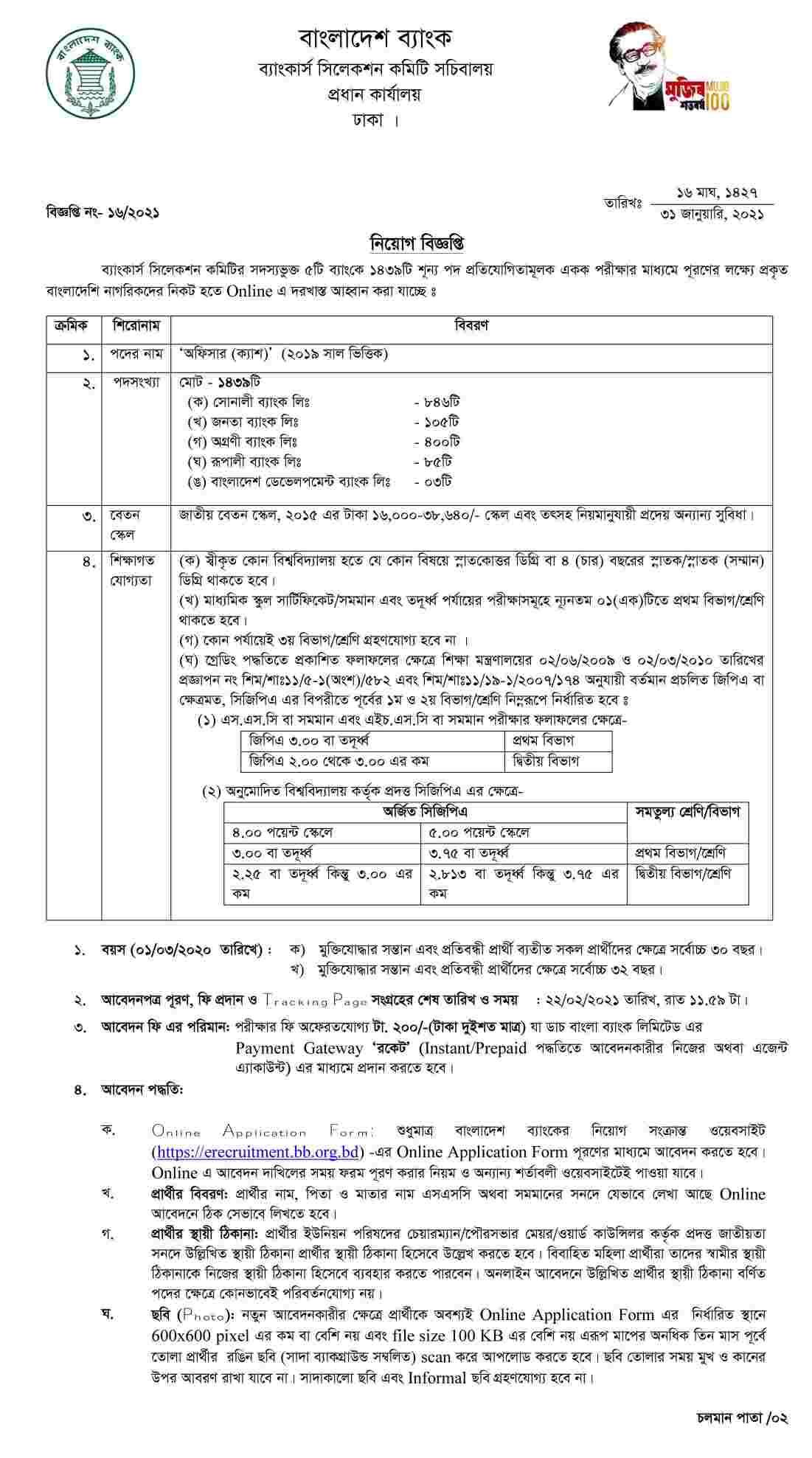 বাংলাদেশ ব্যাংক নিয়োগ বিজ্ঞপ্তি ২০২১, বাংলাদেশ ব্যাংক চাকরির খবর ২০২১, বাংলাদেশ ব্যাংক জব সার্কুলার 2021, Bangladesh Bank Job Circular 2021, BD Bank Job Circular 2021, bank job circular 2021 bd,